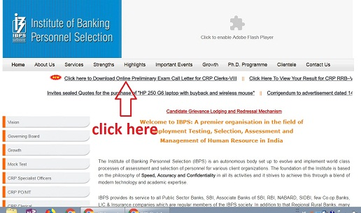 how to download ibps clerk admit card 2018