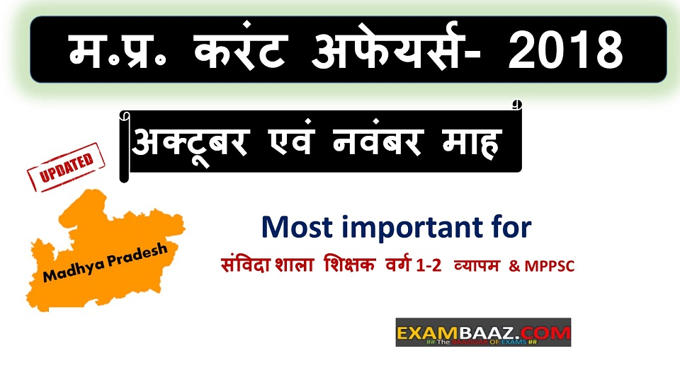 M P Current Affairs Archives - EXAMBAAZ