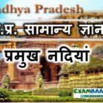 मध्य प्रदेश की प्रमुख नदियां (Rivers and waterfalls of Madhya Pradesh)