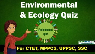 Environmental AndEcology Quiz
