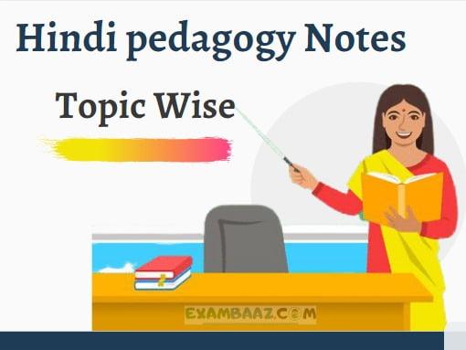 Hindi pedagogy Notes