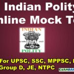 Indian Polity Quiz For UPSC, SSC, MPPSC, RRB Group D, JE, NTPC