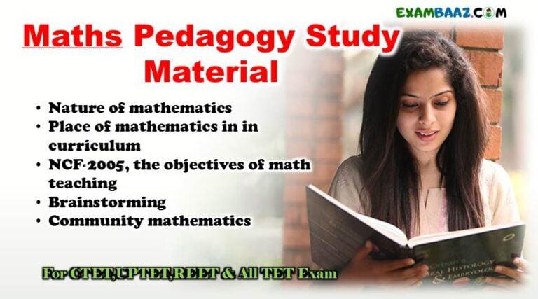 maths pedagogy study material for ctet