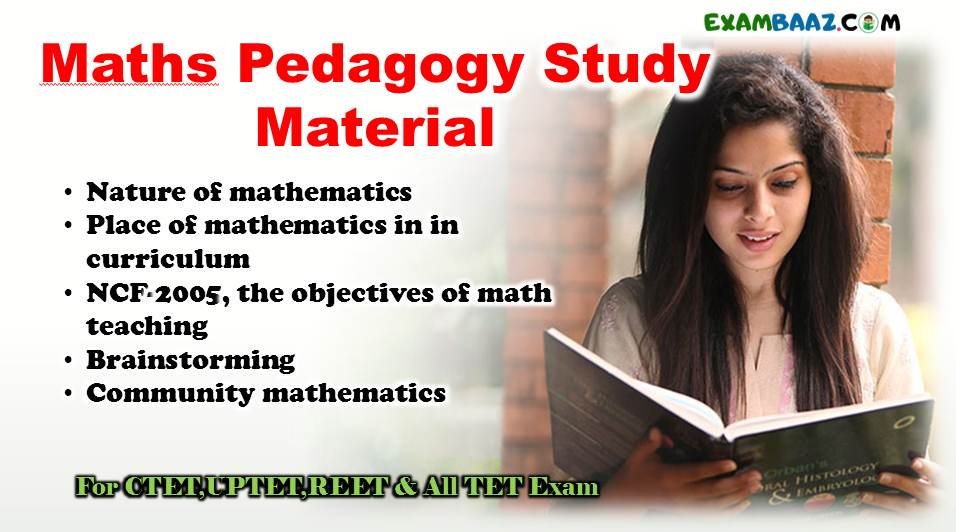 Maths Pedagogy Study Material For CTET, UPTET & All Teachers Exam