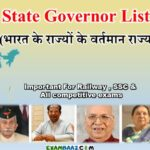 (Updated*) All State Governor List 2019 | Governors of indian states