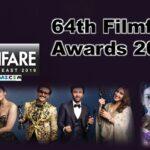 Complete Winner List of 64th Filmfare Awards 2019 (*Updated)