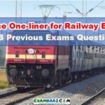 General science one-liner for Railway Exams 2019 (RRB Previous Questions*)