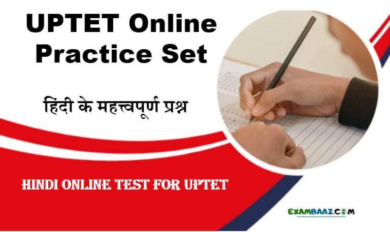 Hindi Mock Test For UPTET