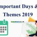 Important Days and Themes 2019 PDF Download in Hindi/English