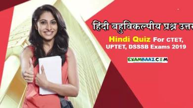 Hindi Quiz For CTET, UPTET, DSSSB Exams 2020