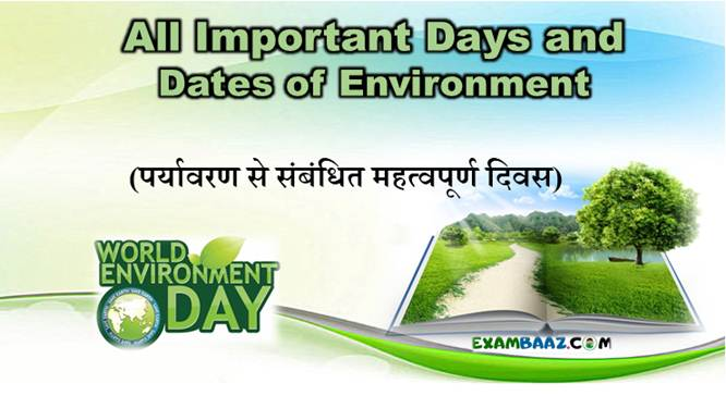 Important Days and Dates of Environment