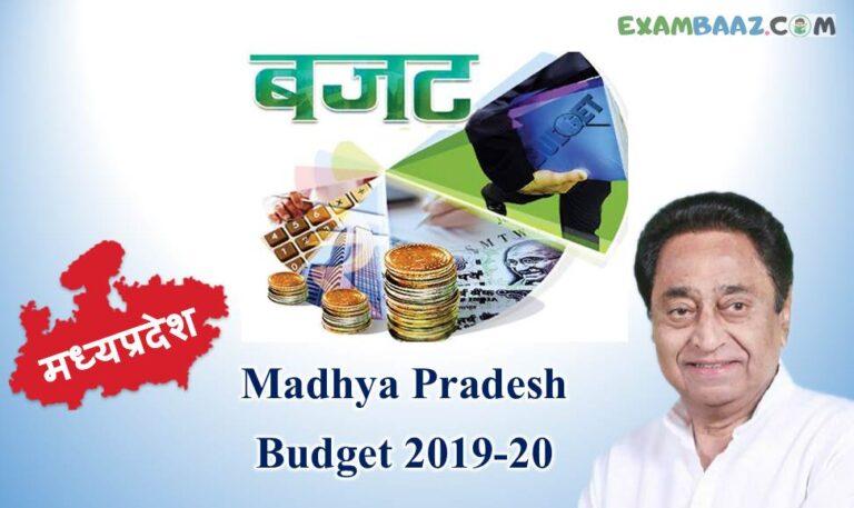 MP Budget 2019 Important Questions