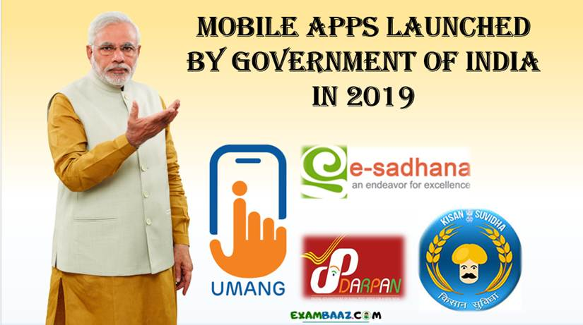 Mobile Apps Launched by Government of India In 2019