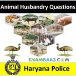 Animal Husbandry Questions For Haryana Police-2020  (Most Expected Questions)