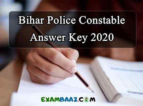 Bihar Police Constable Exam 2020 Answer Key