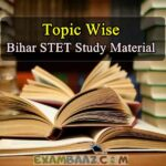 Bihar STET Study Material in Hindi Topic Wise*