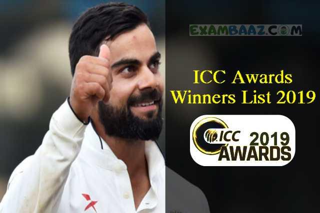 ICC Awards Winners List 2019