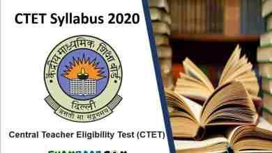 Latest Ctet Syllabus 2020 in Hindi