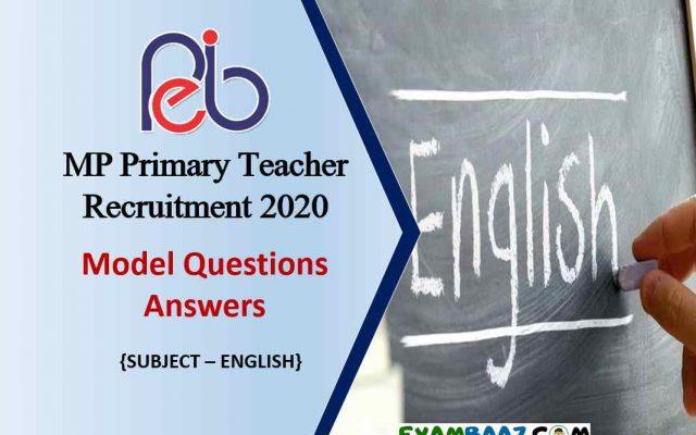 Samvida Shikshak Varg 3 English Question Paper