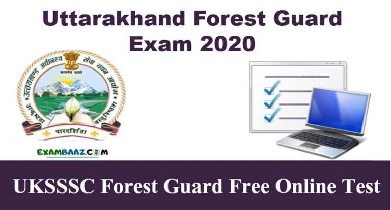 UKSSSC Forest Guard Free Online Test