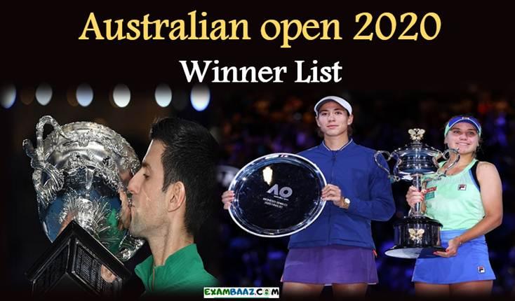 Australian open 2020 Winner List