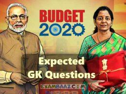 Union Budget 2020 Important Question