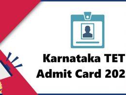 KARTET 2020 Admit card Download