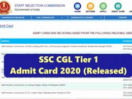How to Download SSC CGL Tier 1 Admit Card 2020?