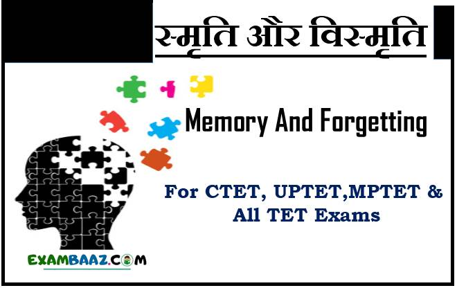Memory And Forgetting In Hindi For CTET