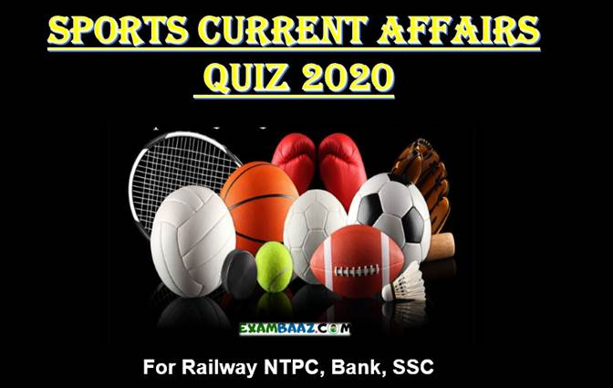 Sports Current Affairs Quiz 2020