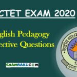 English Pedagogy Objective Questions for CTET