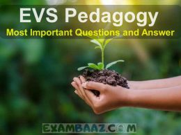 EVS Pedagogy Questions for CTET Exam 2020