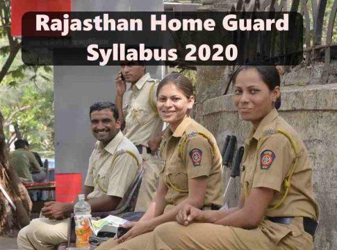 Rajasthan Home Guard Bharti Syllabus 2020