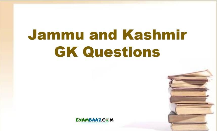 Jammu and Kashmir GK