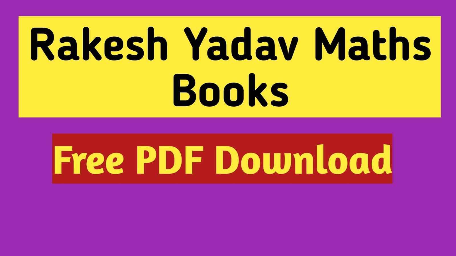 Rakesh Yadav Math Class Notes Book