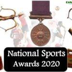 राजीव गांधी खेल रत्न पुरस्कार 2020 || Winners List of National Sports Awards