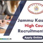 Jammu Kashmir High Court Recruitment 2020    Apply Online Now!!