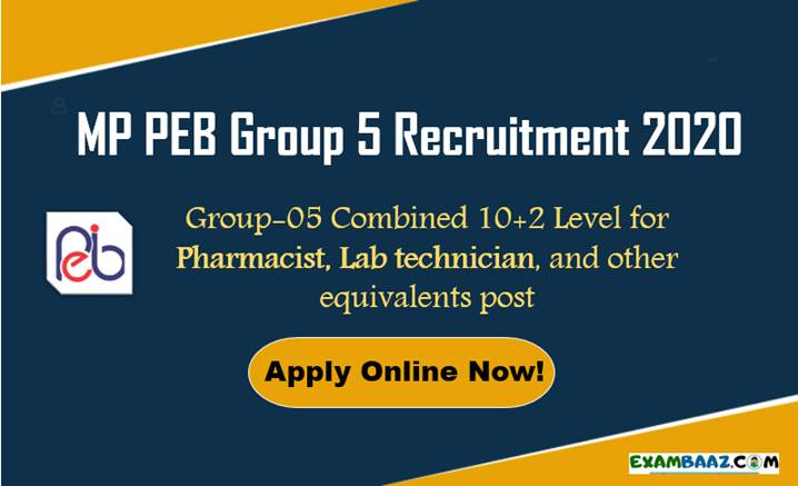 MP PEB Group 5 Recruitment 2020