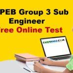 MP PEB Sub Engineer (Free) Online Test Series 2020