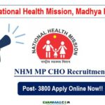 NHM MP 3800 CHO Recruitment 2020 || Notification Out! Apply Online