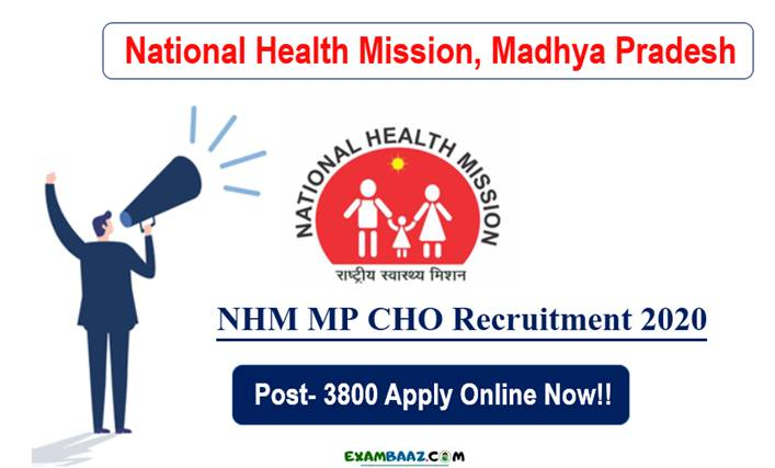 NHM MP CHO Recruitment 2020