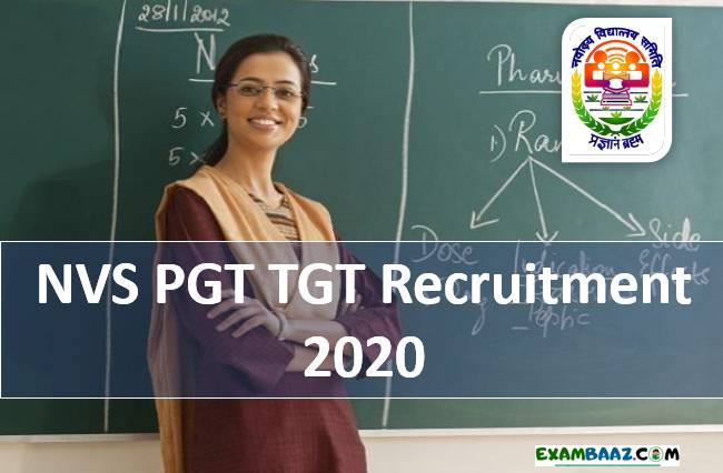 NVS PGT Recruitment 2020