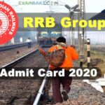 [Download Link] RRB Group D CBT Admit Card 2020 Download | RRC Level 1 Hall Ticket (Exam Date Out))