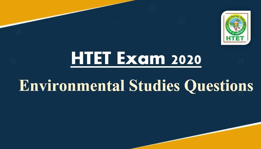 Environmental Studies Notes For HTET