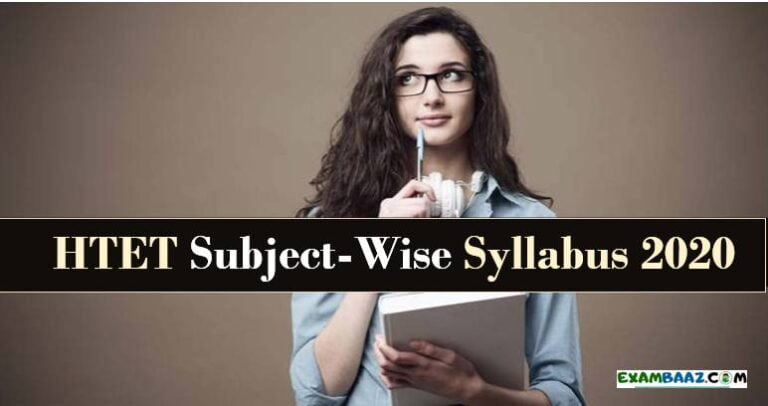 HTET Syllabus 2020 PDF
