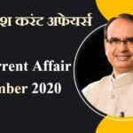 Madhya Pradesh (Latest*) Current Affairs 2020    In Hindi