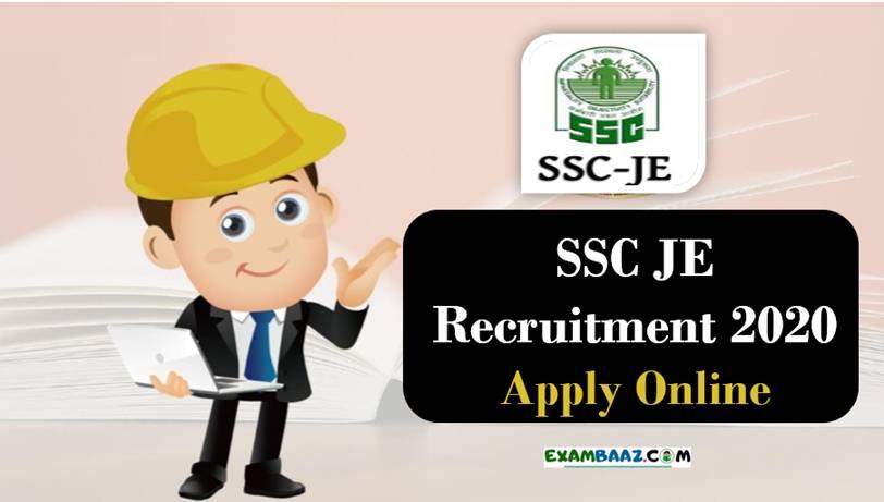 SSC JE Recruitment 2020 Notification PDF