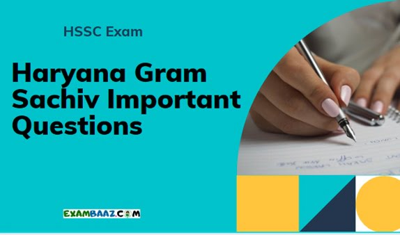 HSSC Gram Sachiv Important Questions