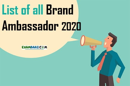 All Brand Ambassador List 2020 PDF Download
