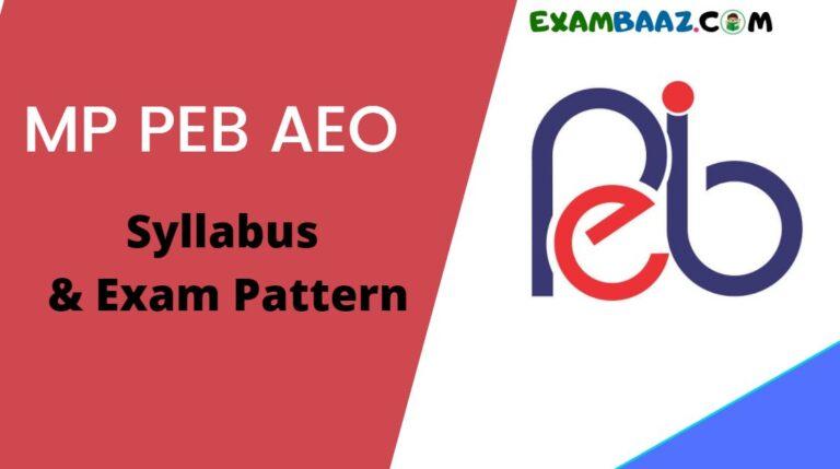 MP Vyapam AEO Recruitment Syllabus